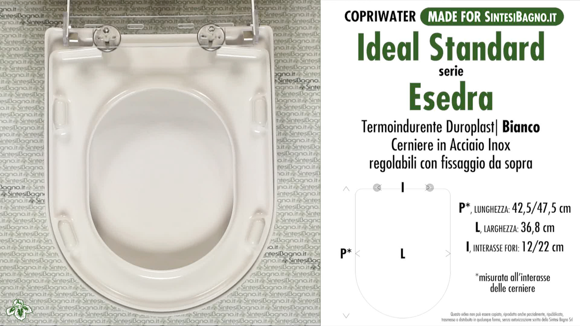 Schede tecniche misure copriwater ideal standard serie esedra for Serie esedra ideal standard