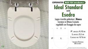 CHEDA TECNICA MISURE copriwater IDEAL STANDARD ESEDRA