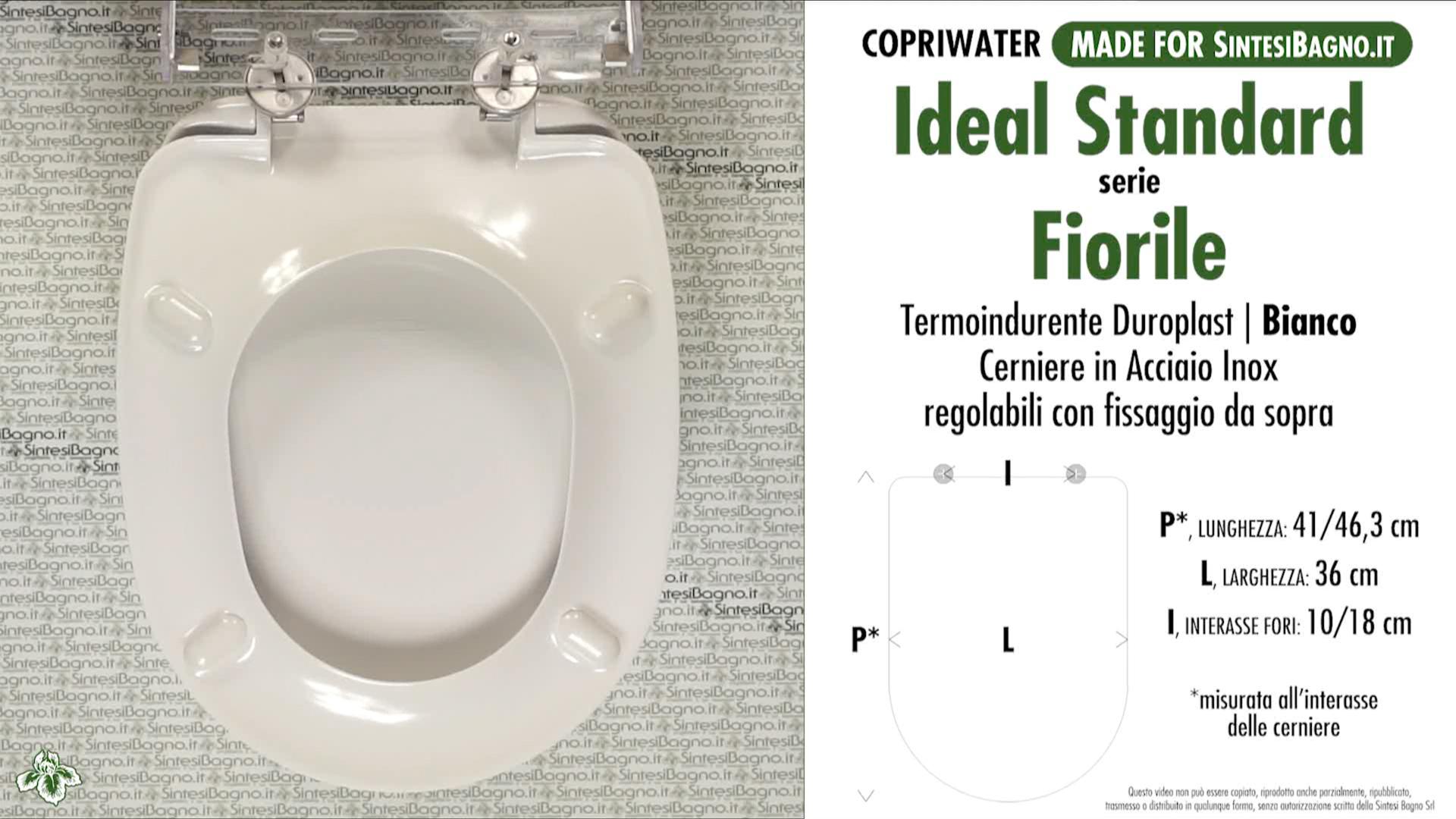 Schede tecniche misure copriwater ideal standard serie fiorile for Calla ideal standard scheda tecnica