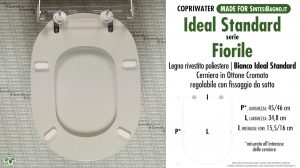 SCHEDA TECNICA MISURE copriwater IDEAL STANDARD FIORILE