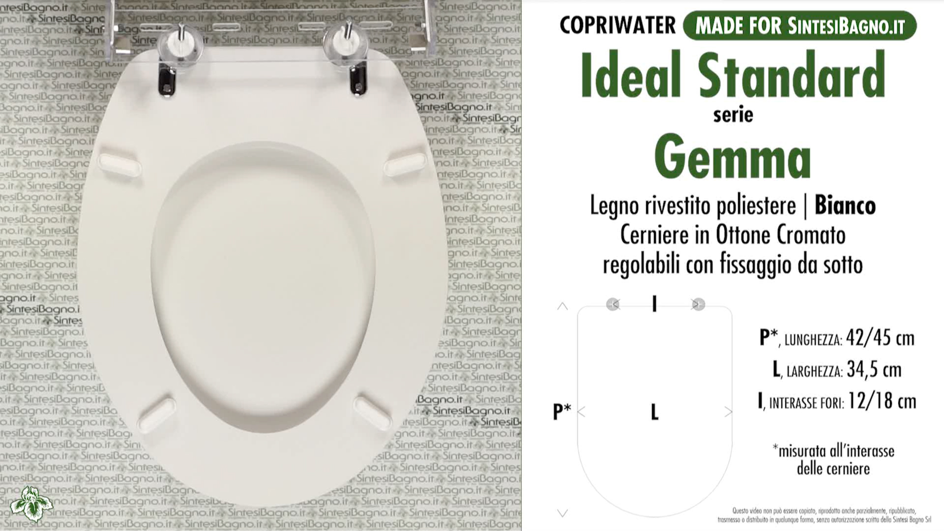 Schede tecniche misure copriwater ideal standard serie gemma for Calla ideal standard scheda tecnica