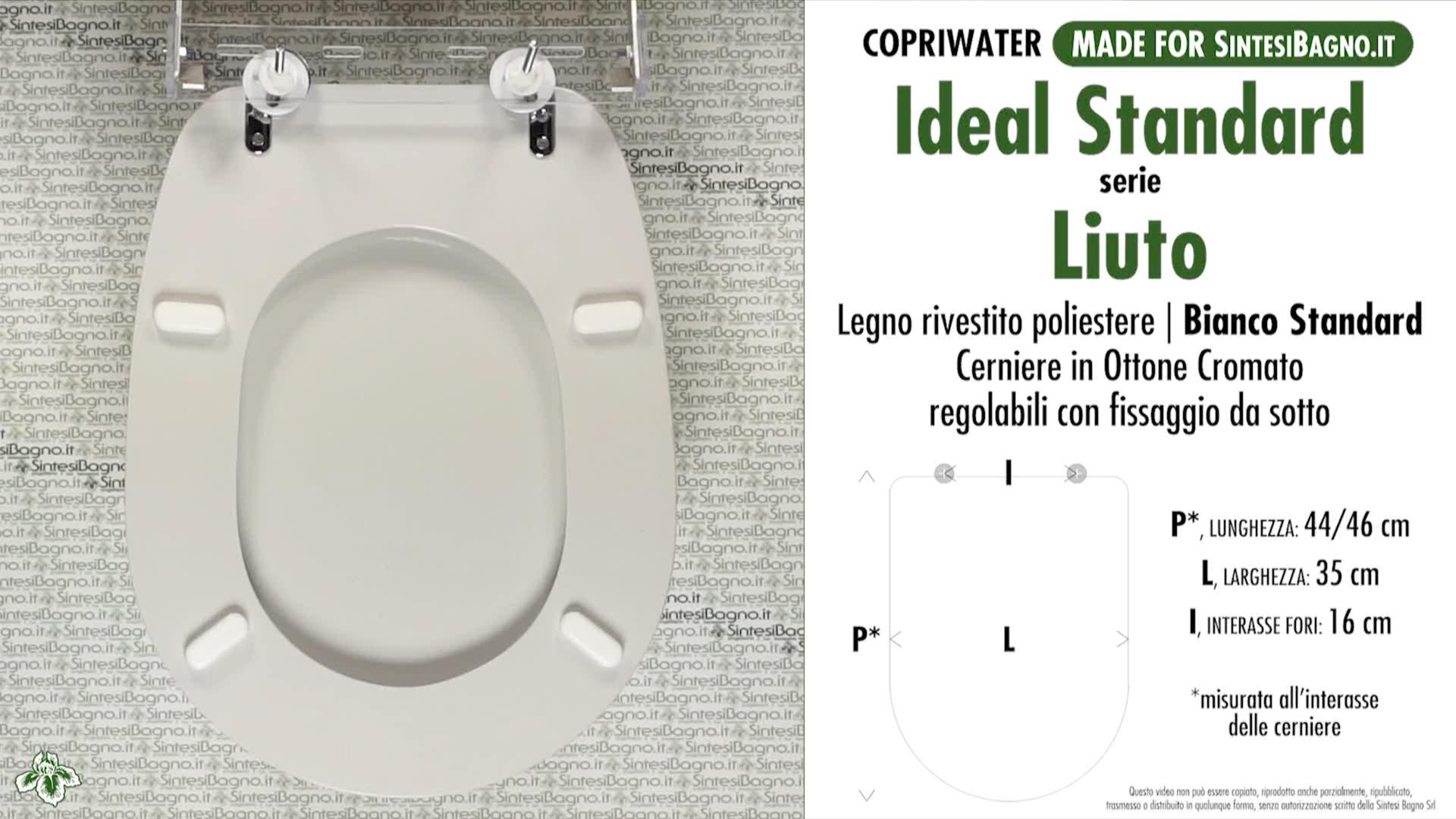 Schede tecniche misure copriwater ideal standard serie liuto for Calla ideal standard scheda tecnica