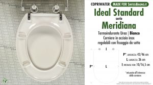SCHEDA TECNICA MISURE copriwater IDEAL STANDARD MERIDIANA