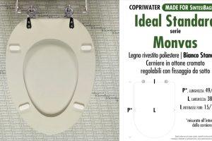 SCHEDA TECNICA MISURE copriwater IDEAL STANDARD MONVAS
