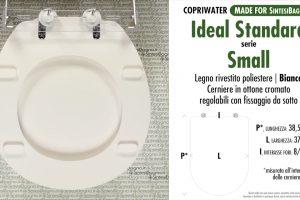 SCHEDA TECNICA MISURE copriwater IDEAL STANDARD SMALL