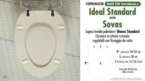 SCHEDA TECNICA MISURE copriwater IDEAL STANDARD SOVAS