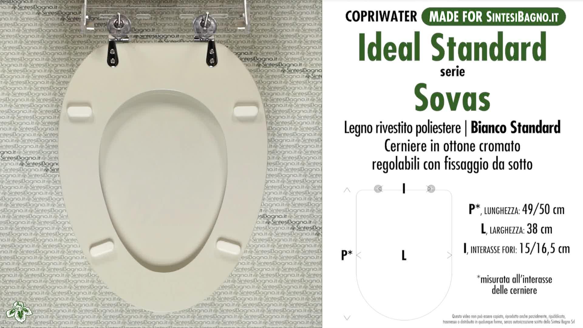 Schede tecniche misure copriwater ideal standard serie sovas for Calla ideal standard scheda tecnica