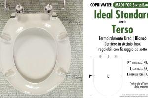 SCHEDA TECNICA MISURE copriwater IDEAL STANDARD TERSO