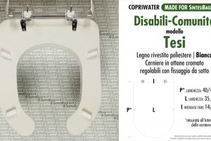 SCHEDA TECNICA MISURE copriwater IDEAL STANDARD TESI DISABILI
