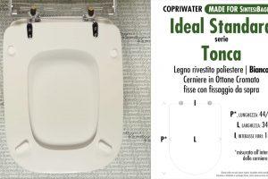 SCHEDA TECNICA MISURE copriwater IDEAL STANDARD TONCA