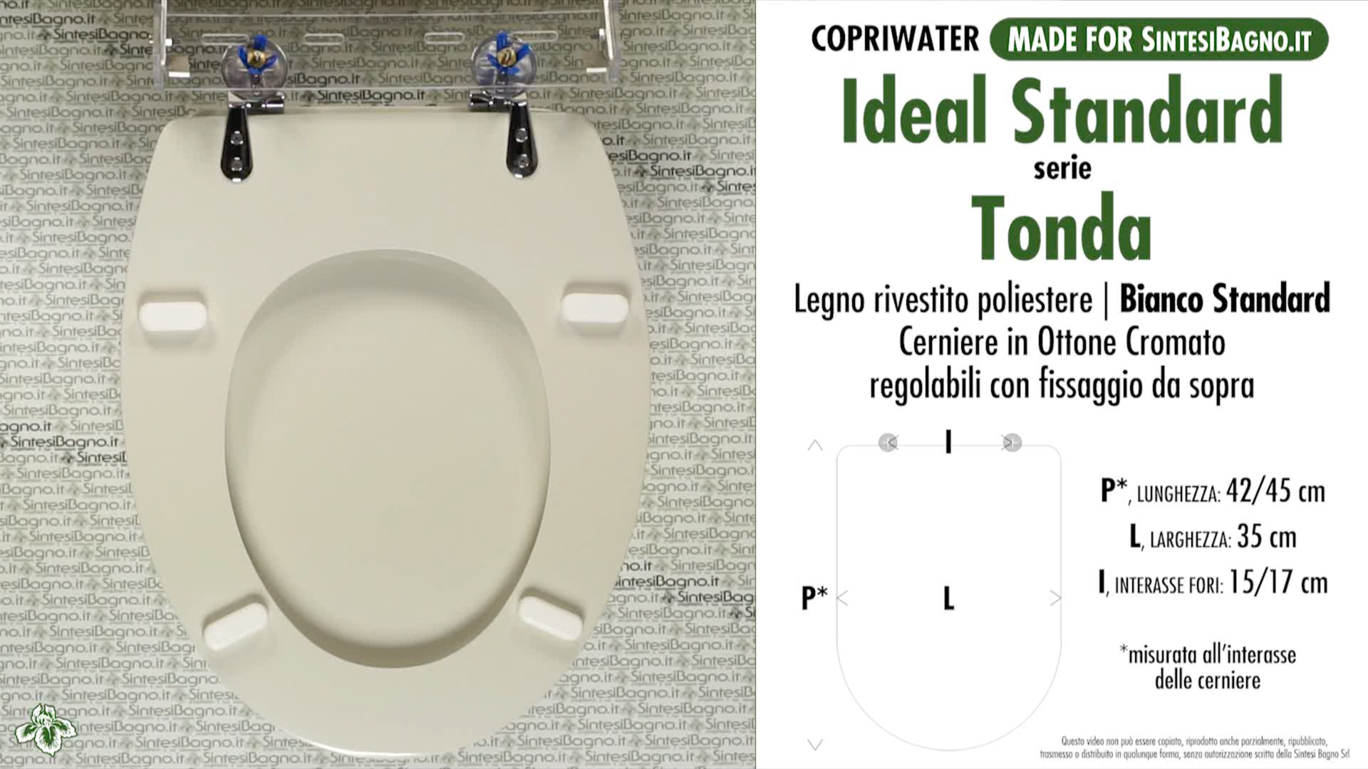 schede tecniche misure copriwater ideal standard serie tonda