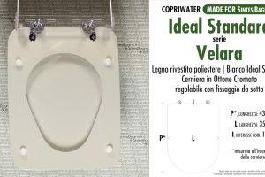 SCHEDA TECNICA MISURE copriwater IDEAL STANDARD VELARA