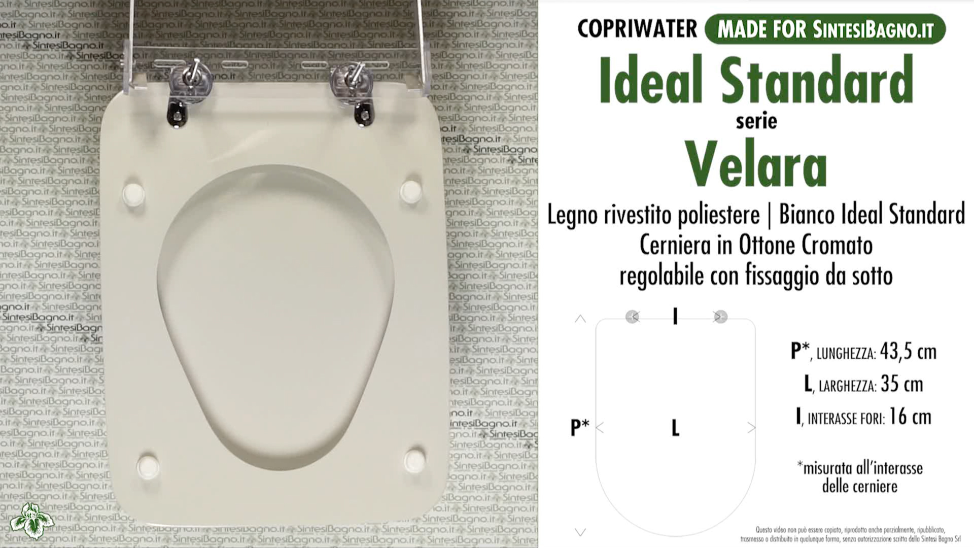 Copriwater ideal standard serie velara rivanazzano for Leroy merlin copriwater
