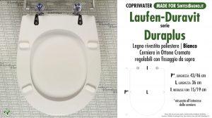 SCHEDA TECNICA MISURE copriwater LAUFEN/DURAVIT DURAPLUS