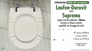 SCHEDA TECNICA MISURE copriwater LAUFEN/DURAVIT SUPREMA