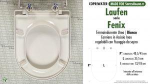 SCHEDA TECNICA MISURE copriwater LAUFEN/DURAVIT FENIX
