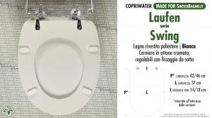 SCHEDA TECNICA MISURE copriwater LAUFEN/DURAVIT SWING