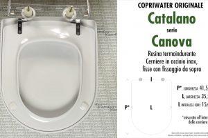SCHEDA TECNICA MISURE copriwater CATALANO CANOVA