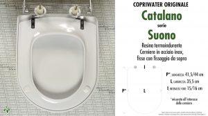 SCHEDA TECNICA MISURE copriwater CATALANO SUONO