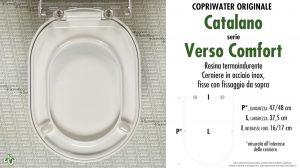 SCHEDA TECNICA MISURE copriwater CATALANO VERSO COMFORT