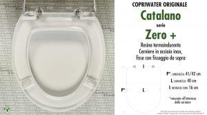 SCHEDA TECNICA MISURE copriwater CATALANO ZERO+