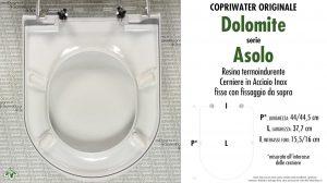 SCHEDA TECNICA MISURE copriwater DOLOMITE ASOLO