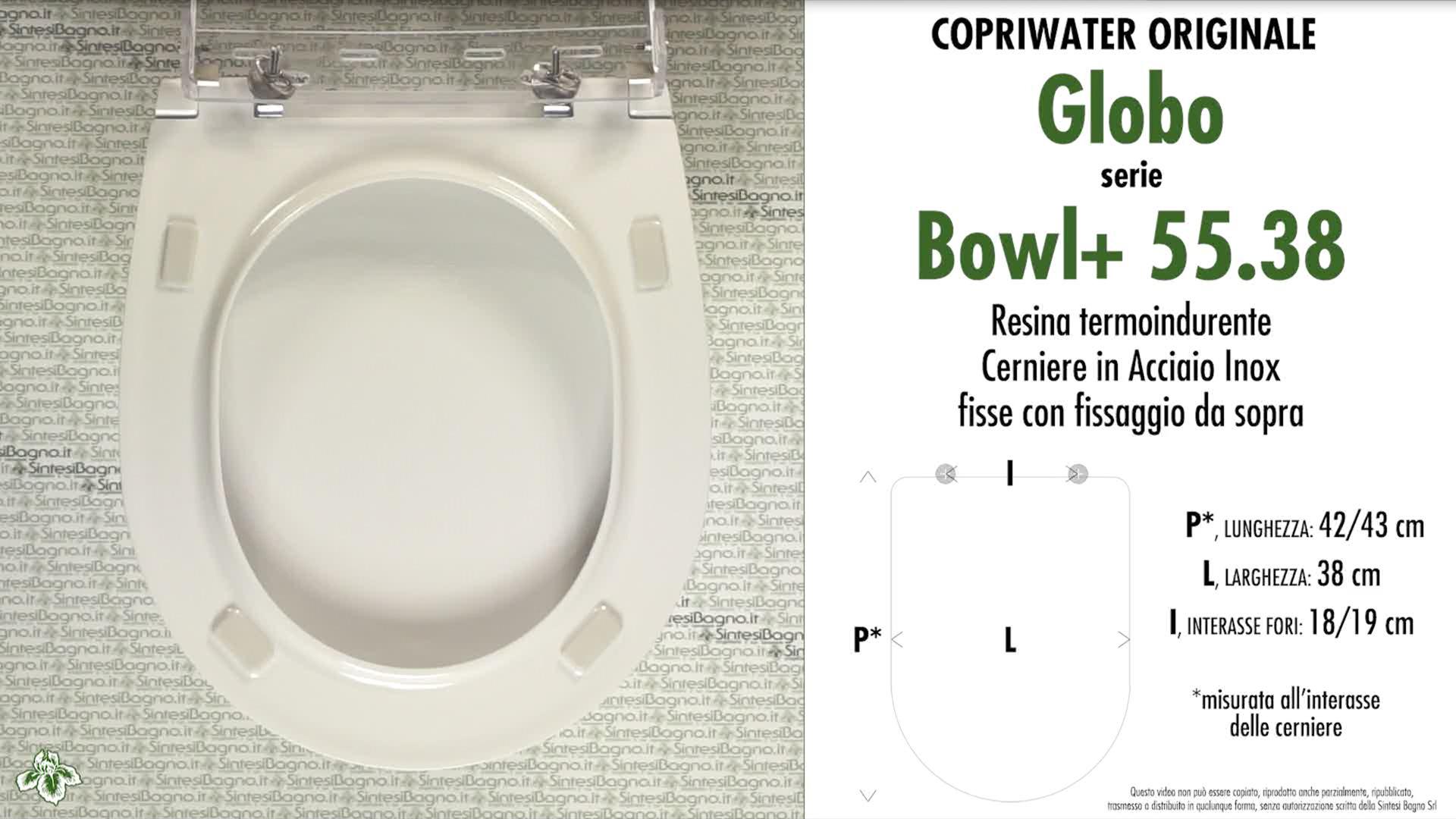 Schede tecniche Globo Bowl