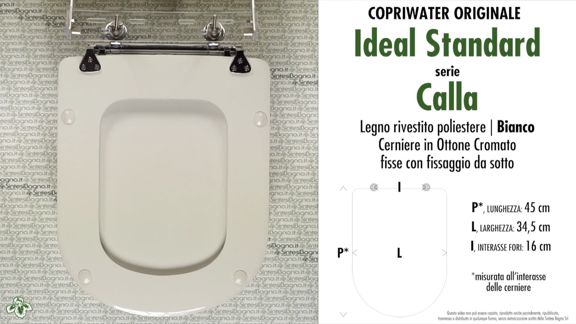 schede tecniche misure copriwater ideal standard serie calla