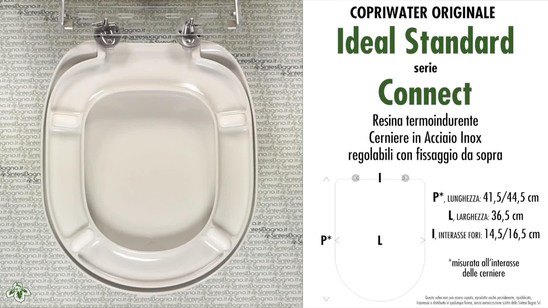 Schede tecniche misure copriwater ideal standard serie connect for Misure copriwater ideal standard