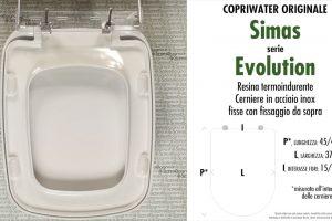 SCHEDA TECNICA MISURE copriwater SIMAS EVOLUTION