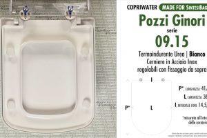 SCHEDA TECNICA MISURE copriwater POZZI GINORI 09.15