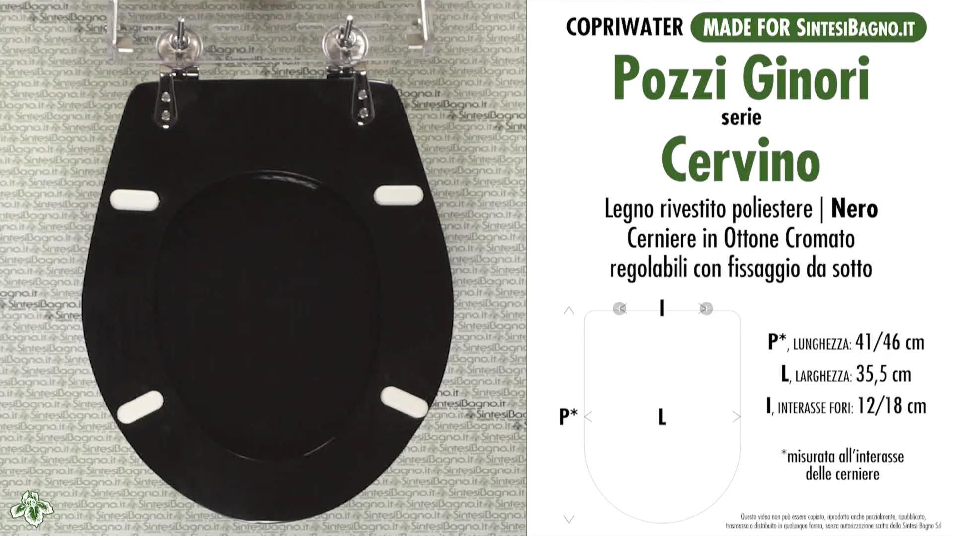 SCHEDA TECNICA MISURE copriwater POZZI GINORI CERVINO