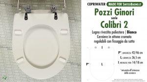 SCHEDA TECNICA MISURE copriwater POZZI GINORI COLIBRI' 2