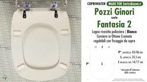 SCHEDA TECNICA MISURE copriwater POZZI GINORI FANTASIA 2
