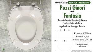SCHEDA TECNICA MISURE copriwater POZZI GINORI FANTASIA