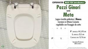 SCHEDA TECNICA MISURE copriwater POZZI GINORI META