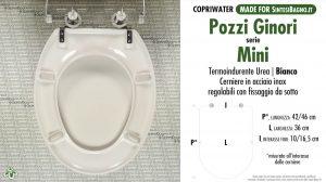 SCHEDA TECNICA MISURE copriwater POZZI GINORI MINI