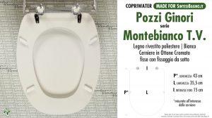 SCHEDA TECNICA MISURE copriwater POZZI GINORI MONTEBIANCO TIPO VECCHIO