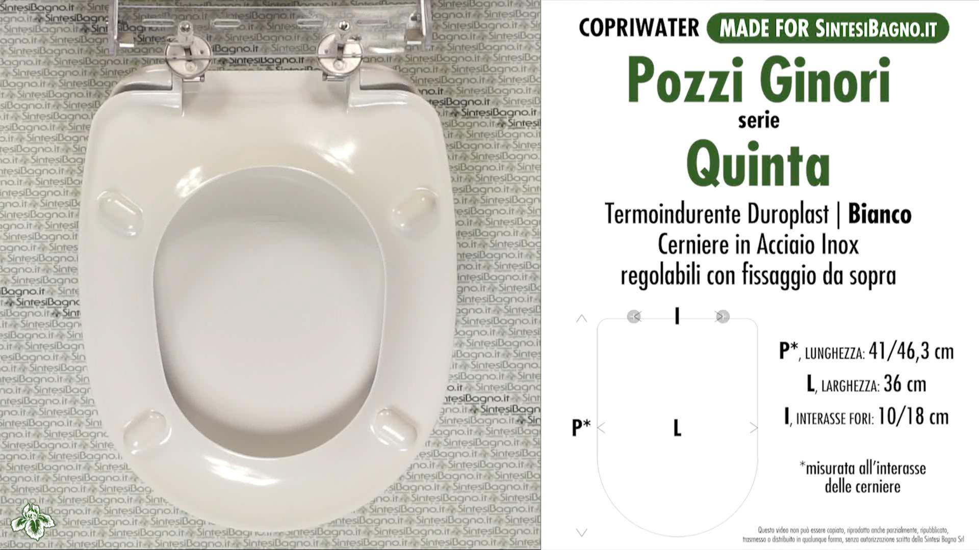 SCHEDA TECNICA MISURE copriwater POZZI GINORI QUINTA