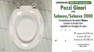 SCHEDA TECNICA MISURE copriwater POZZI GINORI SELNOVA/SELNOVA 2000