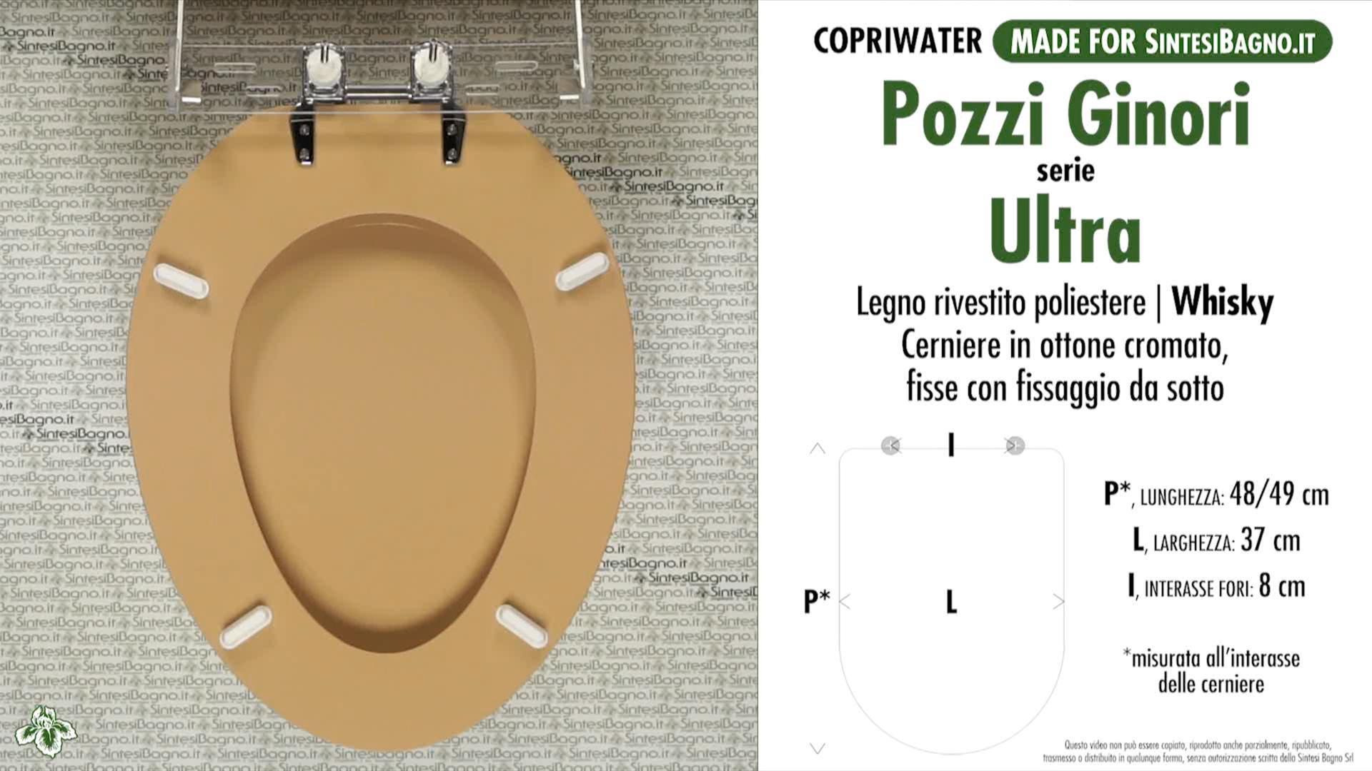 SCHEDA TECNICA MISURE copriwater POZZI GINORI ULTRA