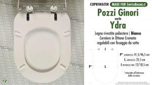 SCHEDA TECNICA MISURE copriwater POZZI GINORI YDRA