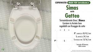 SCHEDA TECNICA MISURE copriwater SIMAS GATTEO