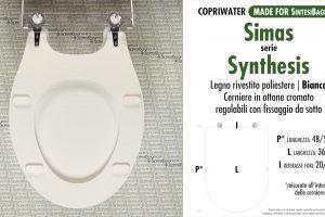 SCHEDA TECNICA MISURE copriwater SIMAS SYNTHESIS