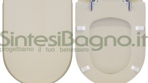 WC-Sitz SintesiBagno MADE für DOLOMITE wc CLODIA Reihe CHAMPAGNE