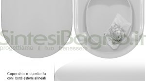 WC-Sitz SintesiBagno MADE für Dolomite WC CLODIA Reihe. Urea Thermoverformt.