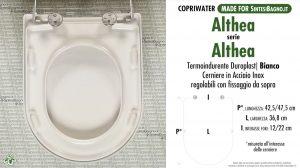 SCHEDA TECNICA MISURE copriwater ALTHEA ALTHEA