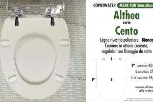 SCHEDA TECNICA MISURE copriwater ALTHEA CENTO