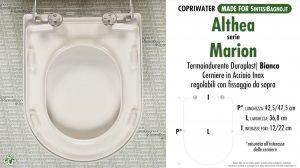 SCHEDA TECNICA MISURE copriwater ALTHEA MARION