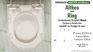 SCHEDA TECNICA MISURE copriwater ALTHEA RING